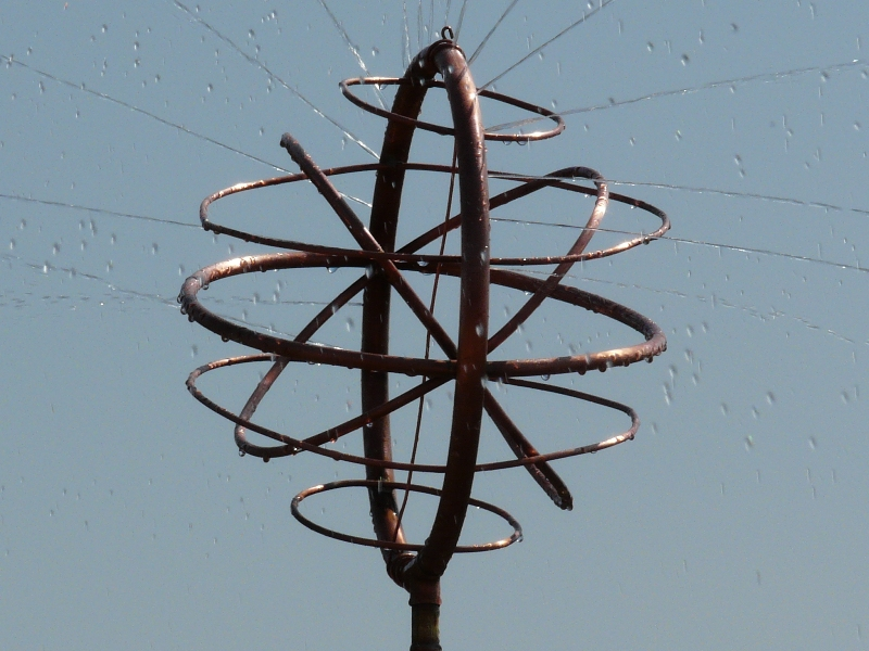 armillary sphere copper art sprinkler design