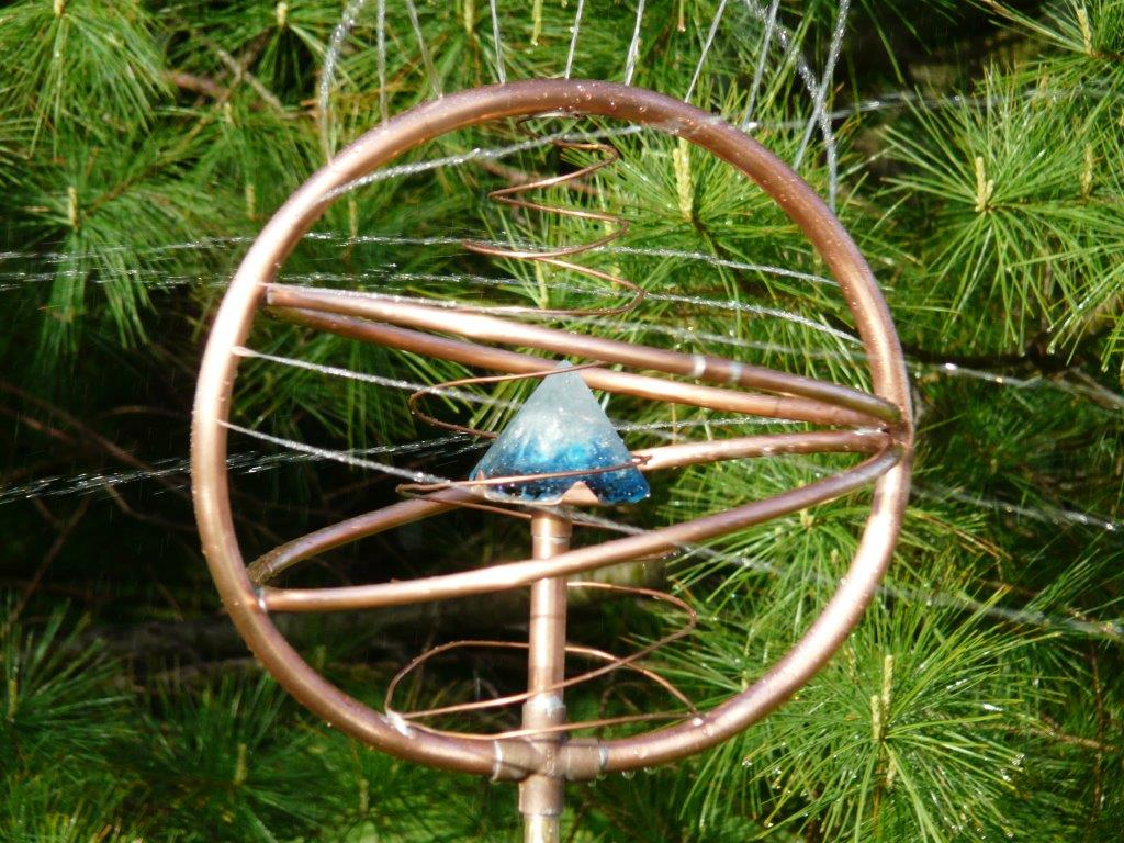 swan song dream sprayer pyramid copper art pet memorial sprinkler spinner