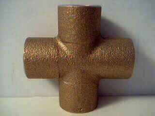 brass cross copper plumbing fitting