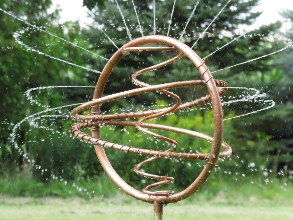 mirage copper art garden water sprinkler