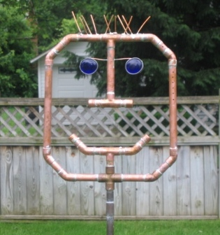 spikey copper art sprinkler spike