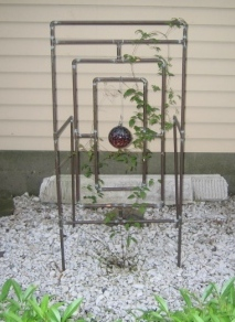 copper art sprinkler trellis